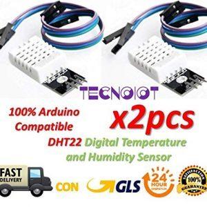 raspberryitalia 2pcs dht22 digital temperature humidity sensor am2302 module with pcb and 1