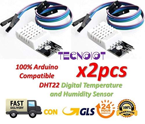 raspberryitalia 2pcs dht22 digital temperature humidity sensor am2302 module with pcb and