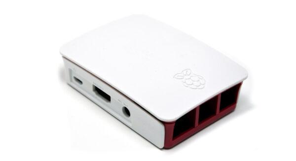 RASPBERRYITALIA official raspberry pi 3 case white red