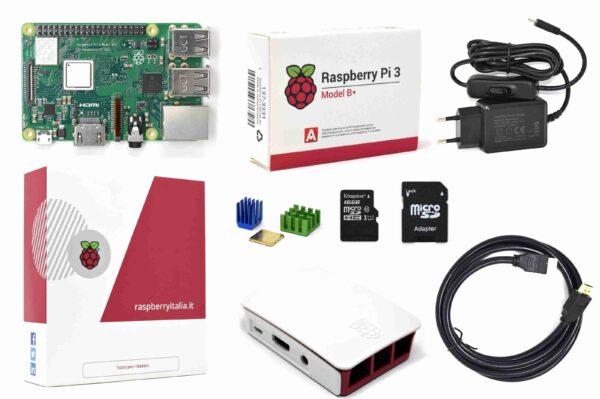 Raspberryitalia raspberry pi 3 b plus official desktop starter kit kingston 16g