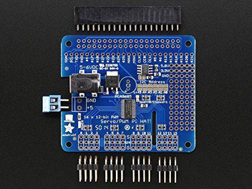 raspberryitalia adafruit 16 channel pwm servo hat for raspberry pi mini kit