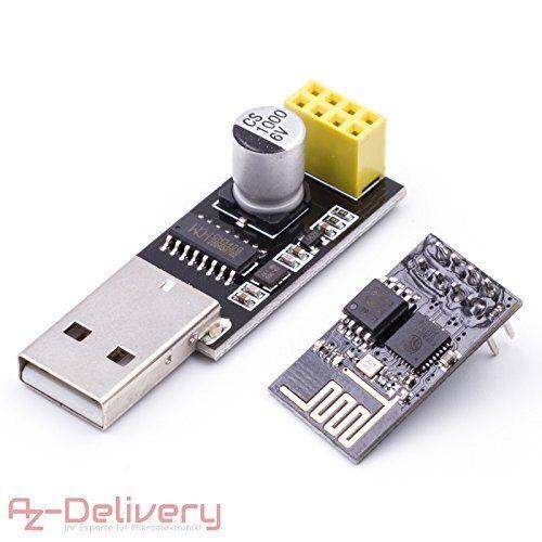 raspberryitalia azdelivery esp 01 esp8266 01 wifi modulo per arduino con adattatore usb