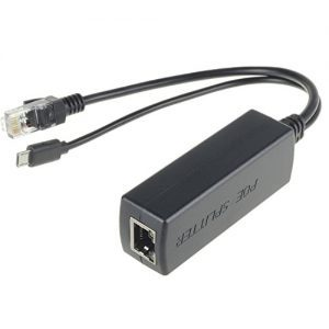 raspberryitalia dslrkit active poe splitter power over ethernet 48v to 5v 24a micro usb plug