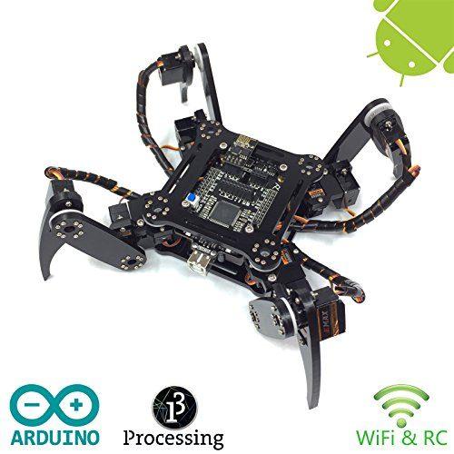 raspberryitalia freenove quadruped robot kit arduino based project raspberry pi spider