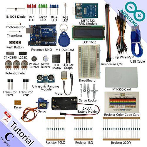 raspberryitalia freenove rfid starter kit for arduino beginner learning uno r3 mega nano