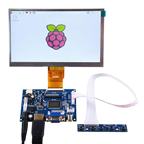 raspberryitalia geeekpi 7 inch 1024 x 600 hdmi screen lcd display with driver board monitor