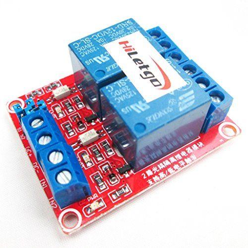 raspberryitalia hiletgo 2pcs dc 12v 2canali modulo rel con isolato optocoupler alto e