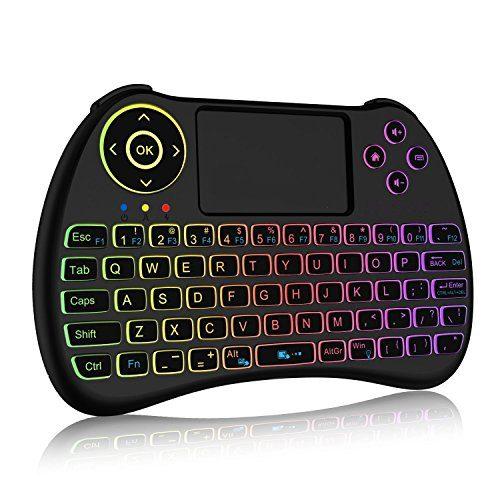 raspberryitalia mini tastiera wireless retroilluminata a colori da 24ghz con mouse