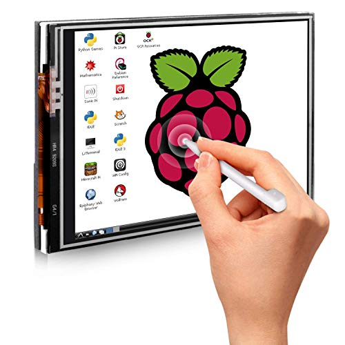 raspberryitalia per raspberry pi 3 quimat tablet lcd touch screen 35 pollici 320480