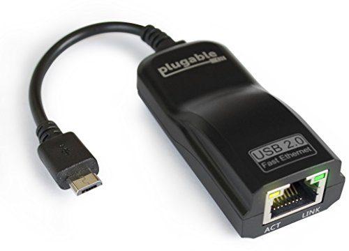 raspberryitalia plugable usb 20 adattatore da otg micro b a 10100 fast ethernet per tablet