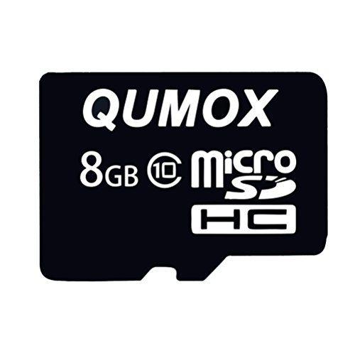 raspberryitalia qumox 8 gb 8 gb micro sd hc sdhc veloce memoria carta classe 10 tf