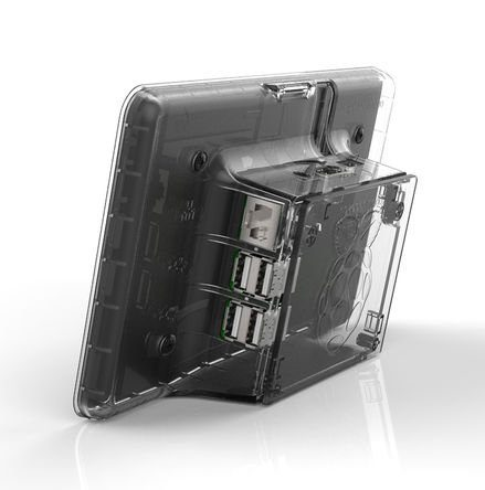 raspberryitalia raspberry pi lcd touchscreen case clear