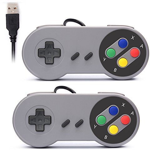 raspberryitalia rii gaming gp100 coppia di gamepad controller usb con design snes super