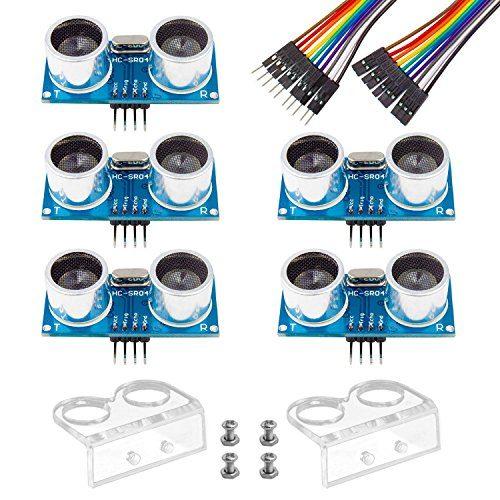 raspberryitalia smraza 5pcs ultrasonic module hc sr04 distance sensor with 2pcs cartoon