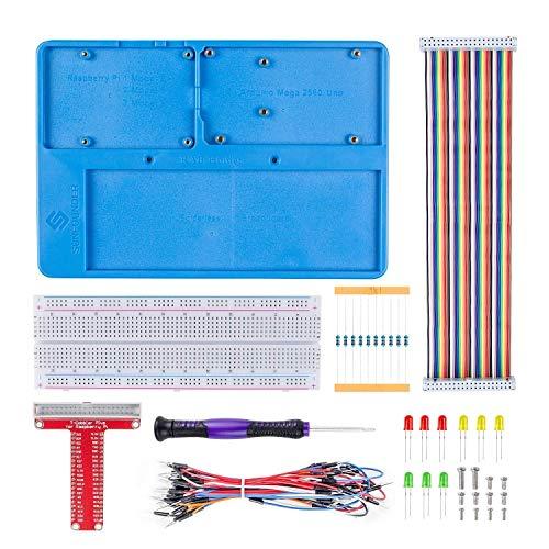 raspberryitalia sunfounder breadboard kit rab holder 830 points solderless circuit 1