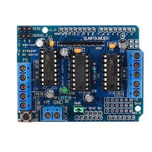 raspberryitalia sunfounder l293d motor drive shield for arduino duemilanove mega uno r3 avr