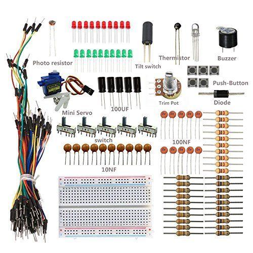 raspberryitalia sunfounder sidekick basic starter kit w breadboard jumper wires color led