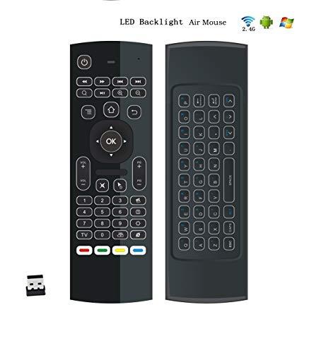 raspberryitalia telecomando retroilluminato con mini tastiera wireless air mouse con porta