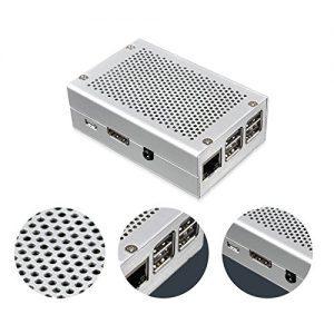 raspberryitalia toogoo per raspberry pi 3 custodia in alluminio custodia in argento per rpi 3