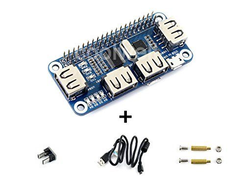 raspberryitalia waveshare raspberry pi 4 port usb hub hat compatible with usb20 11 for