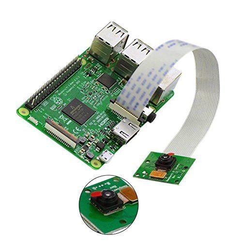 RPi Camera Set con Custodia Protettiva 2 Cavi di Nastro LABISTS Raspberry Pi Camera Module B01 Pi 2 5M 1080P Risoluzione per Raspberry Pi 4 Pi 3 10cm /&15cm