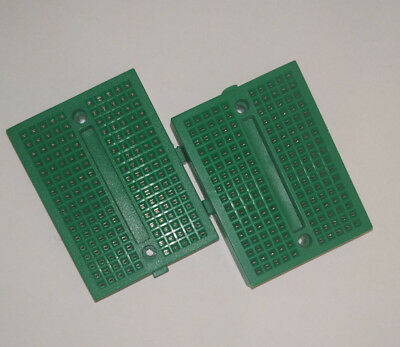 1x Small Breadboard Solderless Prototyping Board 170 Pin 2.54mm arduino green