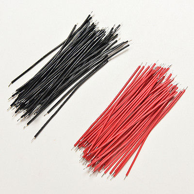 400Pcs Black Red Kit Motherboard Breadboard Jumper Cable Wires Set Tinned 5cm_WF