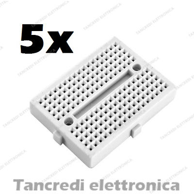5x Mini Breadboard 170 punti fori contatti piastra sperimentale basetta arduino