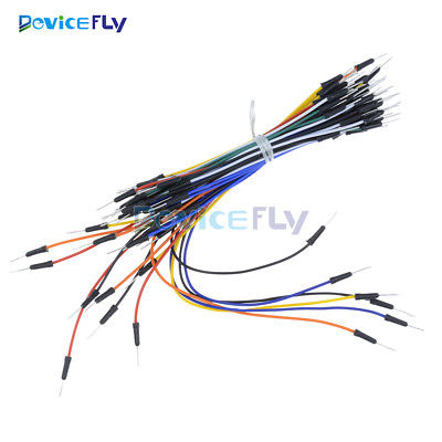 65Pcs Solderless Flexible Breadboard Male to Male Jumper Cable Wires For Arduino