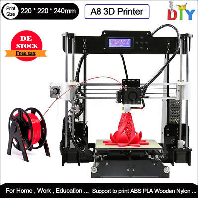 A8 Reprap 3D printer Stampante 3d Prusa I3 Pro C MK8 Extruder LCD PLA/ABS + PLA