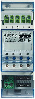 Bticino attuatore 4 rele 2 MODULI F411/4