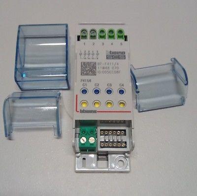 Bticino attuatore F411/4 MYHOME 4 rele 2 MODULI GUIDA DIN,Modello CON ID