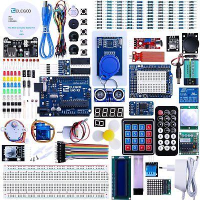Elegoo Progetto Arduino Scheda Uno R3 Starter Ultimate Kit Piu Completo (V7z)