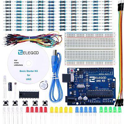 Elegoo Scheda Uno R3 per Arduino Progetto Starter Kit Basic per (K1H)