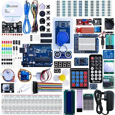 Elegoo UNO R3 Project The Most Complete Ultimate Starter Kit w/TUTORIAL, UNO ...