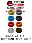 FILO UNIPOLARE CAVO CORDINA FS17 1,5 2,5 4 FILO ELETTRICO MATASSA 10-25-50-100MT