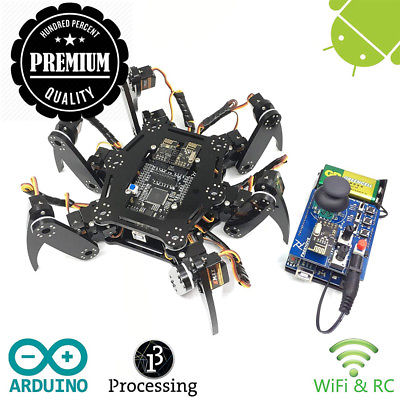 Freenove Hexapod Robot Kit with Remote Control   Arduino Based Project  ...
