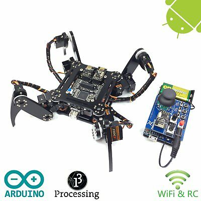 Freenove Quadruped Robot Kit with Remote Control | Arduino Based Project (t9B)