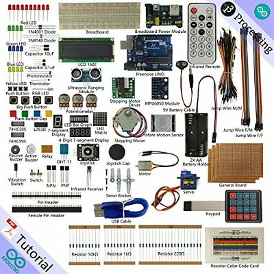 Freenove Ultimate Starter Kit for Arduino | Beginner Learning | UNO R3 (DQ7)