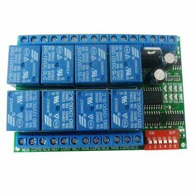 KKmoon 12V 8CH RS485 Relè Modbus RTU Protocollo Interruttore di Comando (d2L)