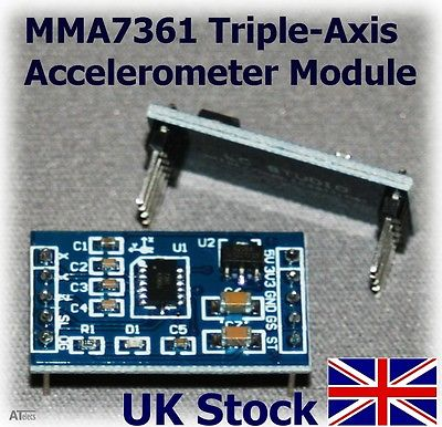 MMA7361 3 Axis Accelerometer Tilt Angle Sensor Arduino Raspberry Pi - UK Stock