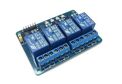 Modulo scheda a 4 relè relay canali optoisolati 250V 10A 5Vdc 5V arduino shield