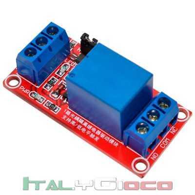 Modulo Scheda Relè 5V 10A 1 Canale Jumper Low/High Trigger per Arduino Raspberry