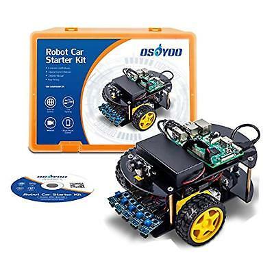OSOYOO Robot Car Kit Smart Car Learning Kit for Raspberry Pi | Model 3B, 2B, B