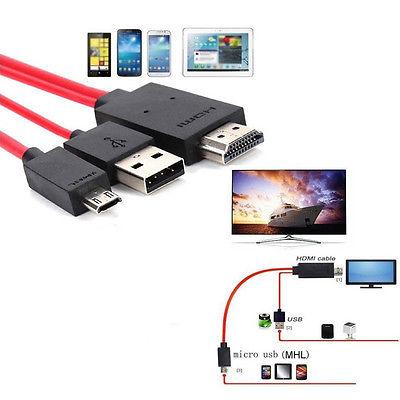 Per Android Cellulare Mhl Micro USB a HDMI 1080P HD Tv Cavo Adattatore