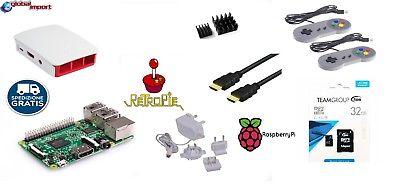 Raspberry Pi 3 (2016) Model B, 1GB RAM, WiFi e Bluetooth BLE KIT RETROPIE BIANCO