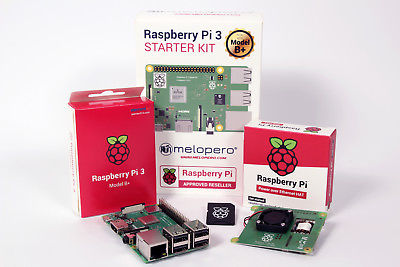 Raspberry Pi 3 B+ Official PoE HAT Kit with 16GB MicroSD