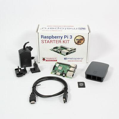 Raspberry Pi 3 Model B+ Official Starter Kit BLACK with 32GB microSD (NOOBS prei