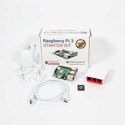 Raspberry Pi 3 Model B+ Official Starter Kit WHITE with 16GB microSD (NOOBS prei