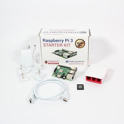 Raspberry Pi 3 Model B+ Official Starter Kit WHITE with 32GB microSD (NOOBS prei